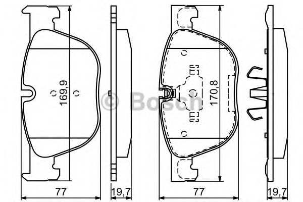 Тормозные колодки Тормозные колодки Bosch ABE арт. 0986494191