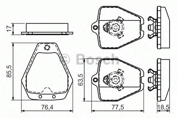 Тормозные колодки Тормозные колодки дисковые PAGID арт. 0986494215
