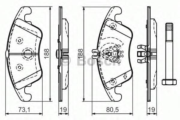 Тормозная система Гальмiвнi колодки, к-кт. ABE арт. 0986494263