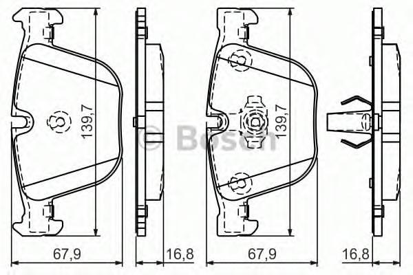 Тормозная система Гальмiвнi колодки, к-кт. PAGID арт. 0986494294