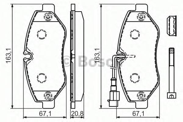 Тормозные колодки Тормозные колодки дисковые ABE арт. 0986494334