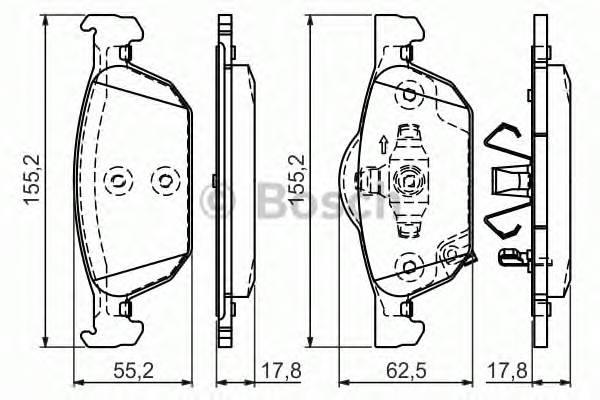 Тормозные колодки Тормозные колодки дисковые ABE арт. 0986494383