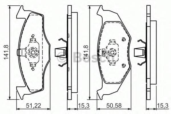 Тормозные колодки Тормозные колодки PAGID арт. 0986495010
