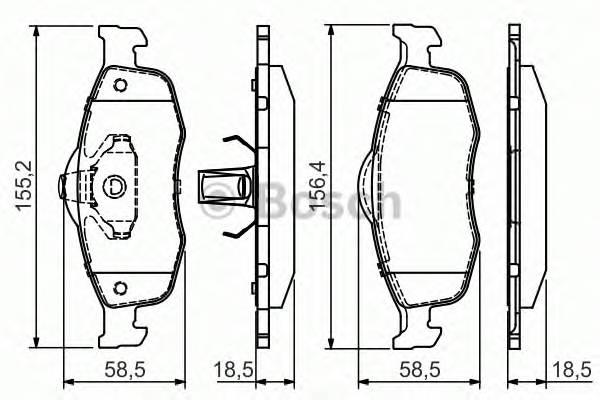 Тормозные колодки Тормозные колодки PAGID арт. 0986495026
