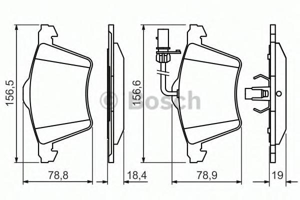 Тормозные колодки Тормозные колодки передние PAGID арт. 0986494415