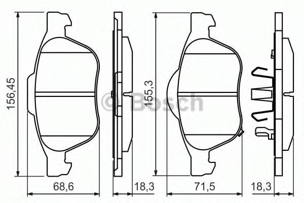 Тормозные колодки Тормозные колодки ABE арт. 0986494485