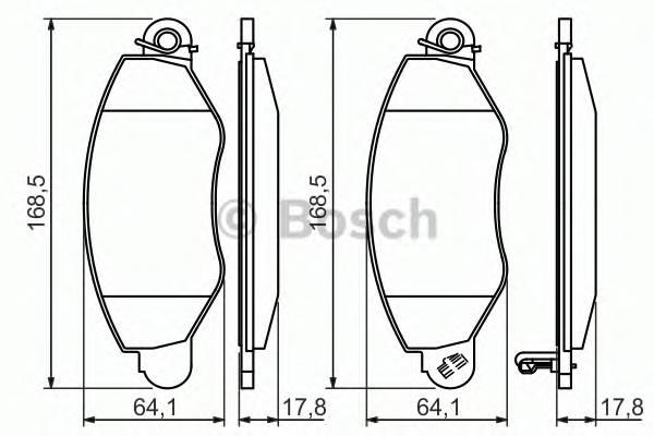 Тормозная система Гальмiвнi колодки, к-кт. ABE арт. 0986494037