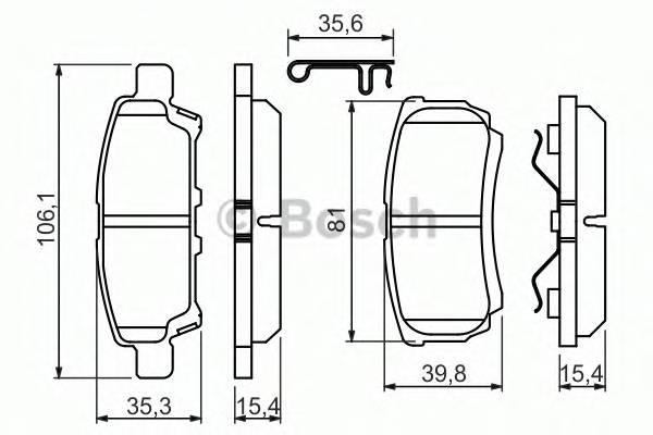 Тормозная система Гальмiвнi колодки, к-кт. PAGID арт. 0986494502