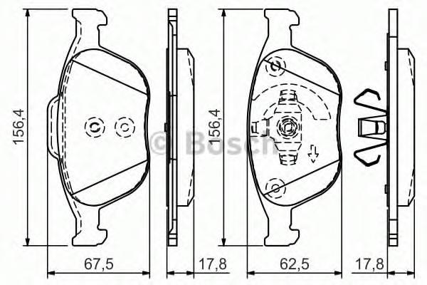 Тормозные колодки Тормозные колодки дисковые передние FORD Focus,Transit,Tourneo 1,8 16V 02- PAGID арт. 0986495066