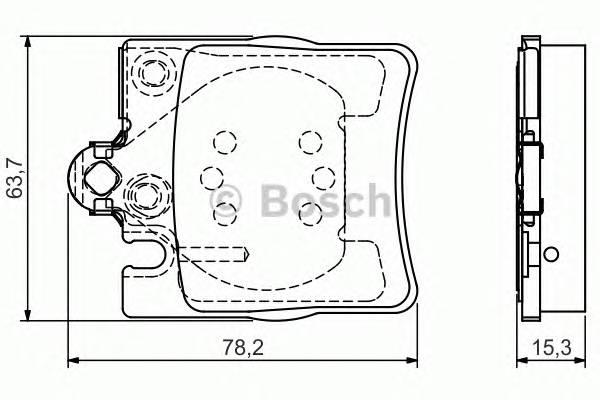Тормозные колодки Тормозные колодки дисковые задние DB C203 E210 2000- PAGID арт. 0986495081