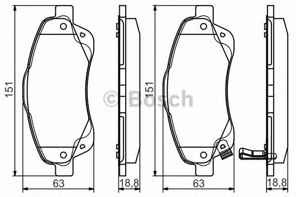 Тормозные колодки Тормозные колодки дисковые передние TOYOTA Avensis 03- PAGID арт. 0986495083