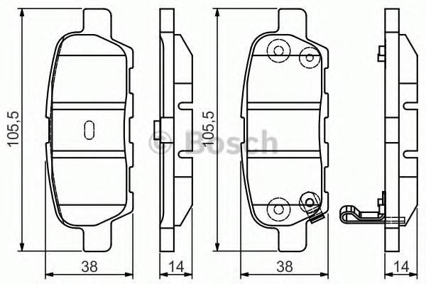 Тормозная система Гальмiвнi колодки, к-кт. PAGID арт. 0986495089