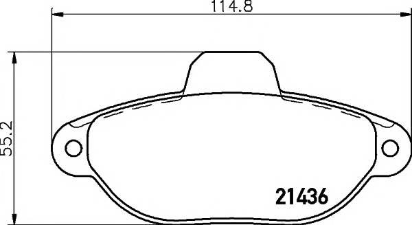 Тормозные колодки Тормозные колодки дисковые ABE арт. 2143602