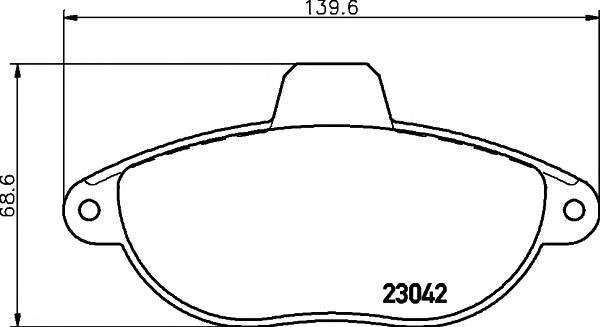 Тормозные колодки Тормозные колодки дисковые ABE арт. 2304201