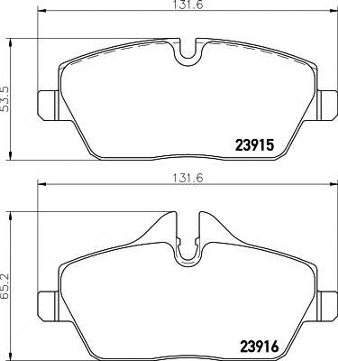 Тормозные колодки Тормозные колодки дисковые TEXTAR ABE арт. 2391503