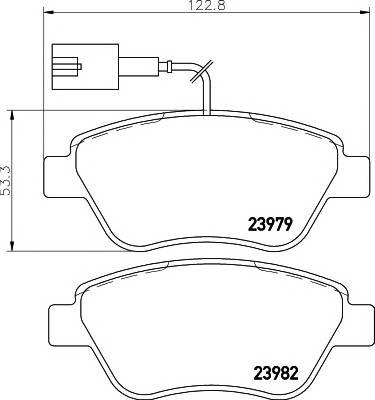 Тормозные колодки Тормозные колодки дисковые ABE арт. 2397901