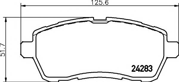 Тормозная система Гальмiвнi колодки, к-кт. ABE арт. 2428302