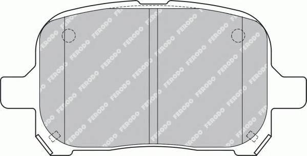 Тормозные колодки Тормозные колодки Ferodo PAGID арт. FDB1437