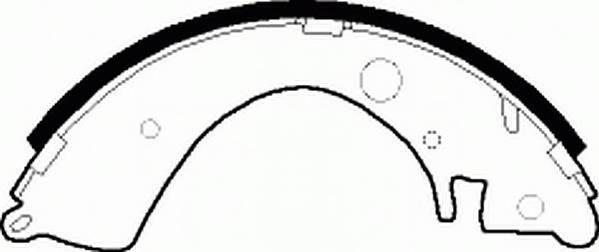 Тормозные колодки Тормозные колодки барабанные Ferodo PAGID арт. FSB219