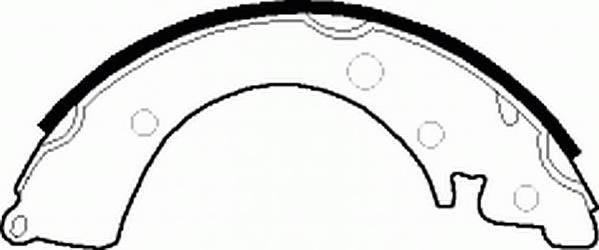 Тормозные колодки Тормозные колодки барабанные ABE арт. FSB231