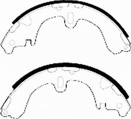 Тормозные колодки Тормозные колодки барабанные Ferodo PAGID арт. FSB321