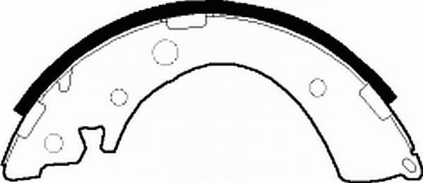 Тормозные колодки Тормозные колодки барабанные ABE арт. FSB402