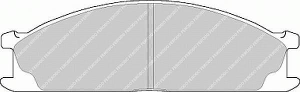 Тормозные колодки Тормозные колодки дисковые PAGID арт. FVR641
