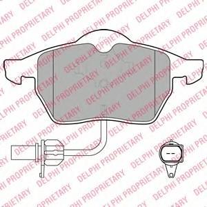 Гальмівні колодки, дискові PAGID арт. LP1672