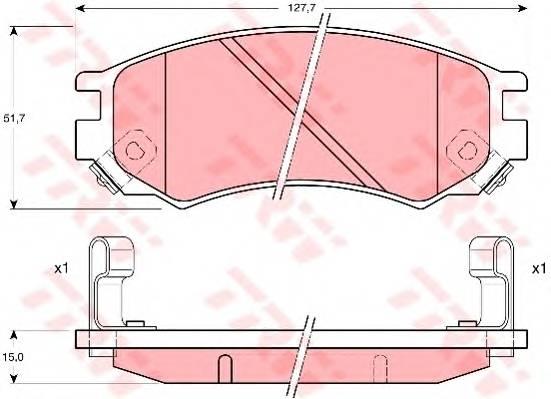 Тормозные колодки Тормозные колодки дисковые PAGID арт. GDB1175