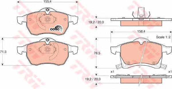 Тормозные колодки Тормозные колодки дисковые PAGID арт. GDB1350