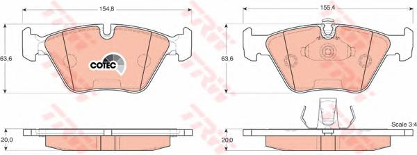 Тормозные колодки Тормозные колодки дисковые ABE арт. GDB1404