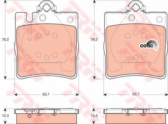 Тормозные колодки Тормозные колодки дисковые PAGID арт. GDB1421