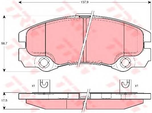 Тормозные колодки Тормозные колодки дисковые PAGID арт. GDB1436