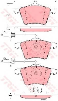 Тормозные колодки Тормозные колодки дисковые PAGID арт. GDB1459