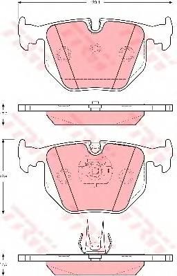 Тормозные колодки Тормозные колодки дисковые PAGID арт. GDB1527