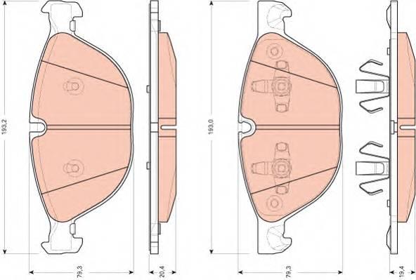 Тормозные колодки Тормозные колодки дисковые ABE арт. GDB1728