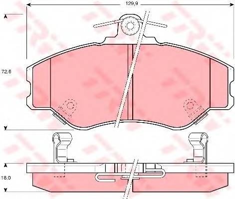Тормозные колодки Тормозные колодки дисковые PAGID арт. GDB3089