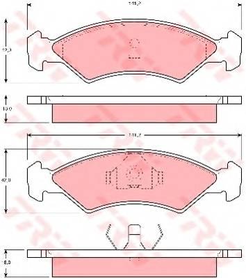 Тормозные колодки Тормозные колодки дисковые ABE арт. GDB311