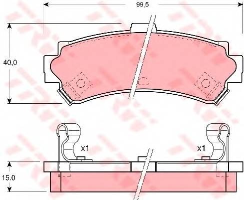 Тормозные колодки Тормозные колодки дисковые PAGID арт. GDB3115