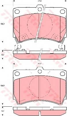 Тормозные колодки Тормозные колодки дисковые PAGID арт. GDB3206