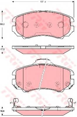 Тормозные колодки Тормозные колодки дисковые PAGID арт. GDB3386