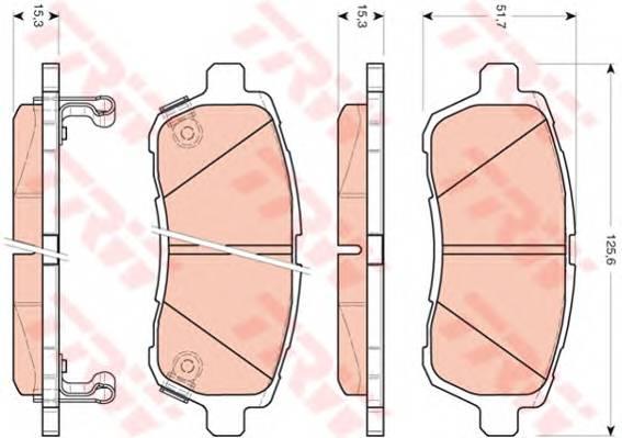 Тормозные колодки Тормозные колодки дисковые ABE арт. GDB3437