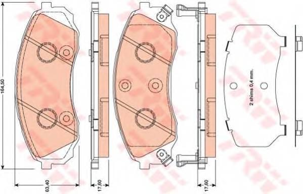 Тормозные колодки Тормозные колодки дисковые ABE арт. GDB3448