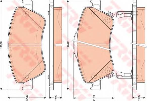 Тормозные колодки Тормозные колодки дисковые ABE арт. GDB3481