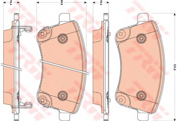 Тормозные колодки Тормозные колодки дисковые ABE арт. GDB3509