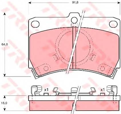 Тормозные колодки Тормозные колодки дисковые PAGID арт. GDB374