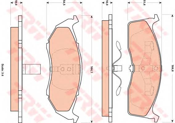 Тормозные колодки Тормозные колодки дисковые PAGID арт. GDB4091
