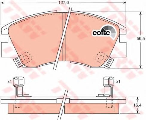 Тормозные колодки Тормозные колодки дисковые PAGID арт. GDB729