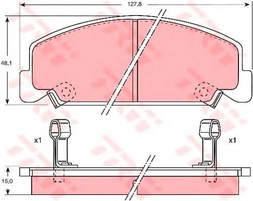 Тормозные колодки Тормозные колодки дисковые PAGID арт. GDB764