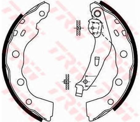 Тормозные колодки Тормозные колодки барабанные ABE арт. GS8665